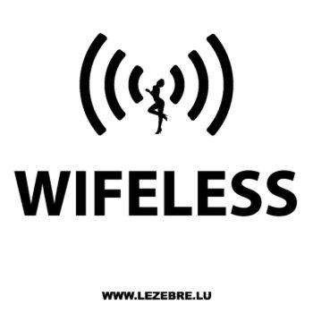 Sweat-Shirt Wifeless parodie Wireless