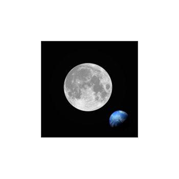 Sticker Déco Pleine Lune et Planète Terre
