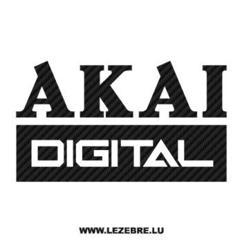 Sticker Carbone Akai Digital