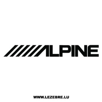 Alpine Logo Decal 2