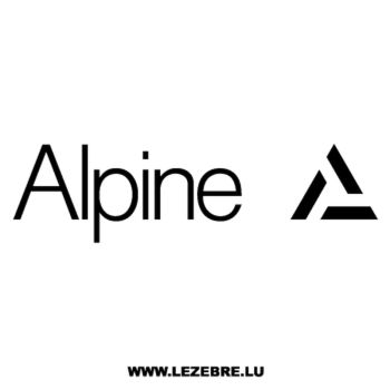 > Sticker Alpine Logo 3
