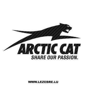 Arctic Cat Passion Logo Carbon Decal