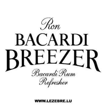 Sticker Bacardi Breezer