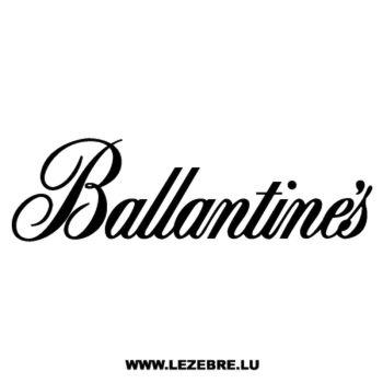 Sticker Ballantine's