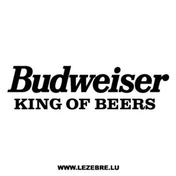 Sticker Budweiser King of Beers