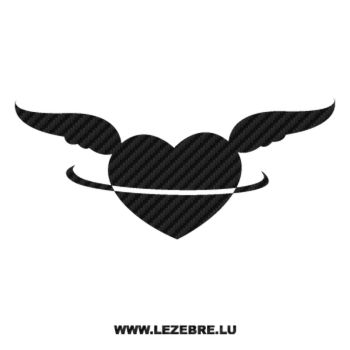 Angel Heart Carbon Decal
