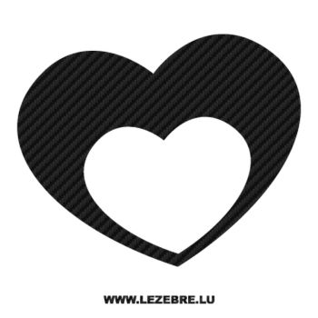 Double Heart Carbon Decal