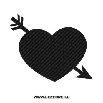Heart Arrow Carbon Decal