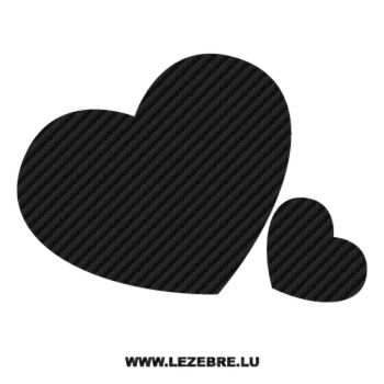 Hearts in love Carbon Decal