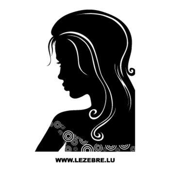 Sticker Deco Femme Sensuelle