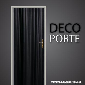 Curtain door decal