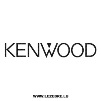 Sticker Carbone Kenwood Logo 2