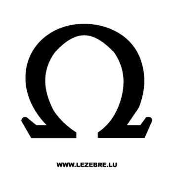 Sticker Omega Logo 2