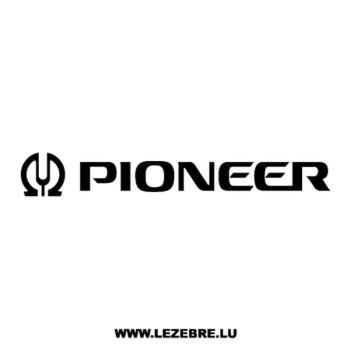 Sticker Pioneer Logo 2