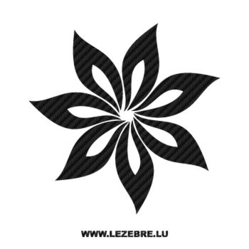 Sticker Carbone Deco Fleur 7
