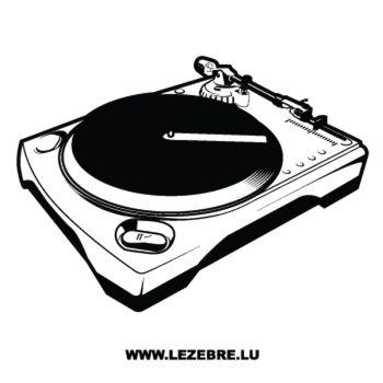 Sticker Deco Platine Vinyles DJ