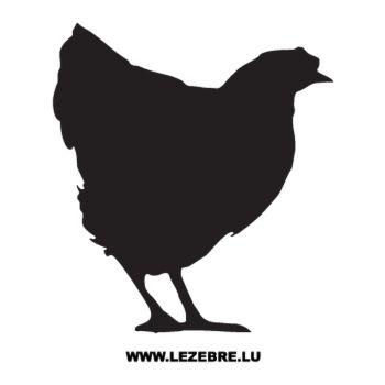Sticker Deko Huhn