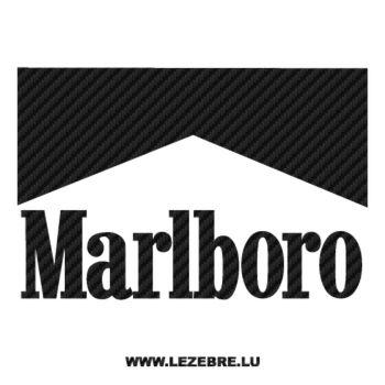 Marlboro Logo Carbon Decal 2