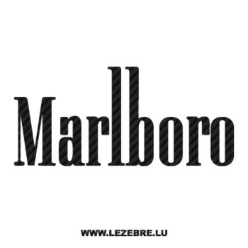 Marlboro Logo Carbon Decal 3