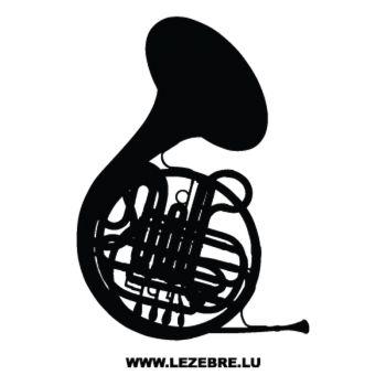 Sticker Cor d'Harmonie Musique et chasse
