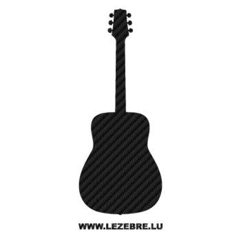 Sticker Carbone Deco Guitar