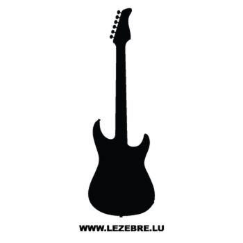 Sticker Deco Guitar Electrique