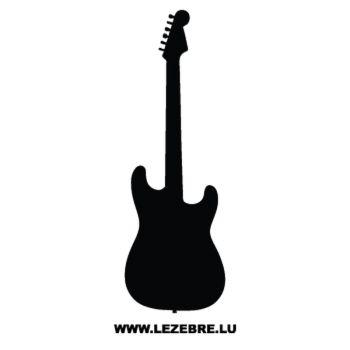 Sticker Deco Guitar Electrique 2