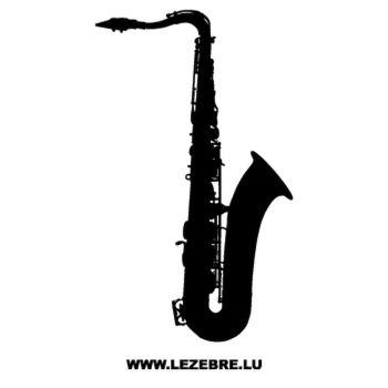 Sticker Deco Musique Saxophone