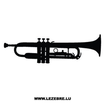 Sticker Deco Musique Trompette