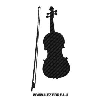 Sticker Carbone Deco instuments Musique Violon