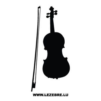 Sticker instruments Musique Violon