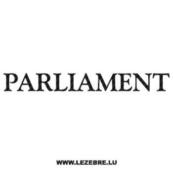 Sticker Carbone Parliament