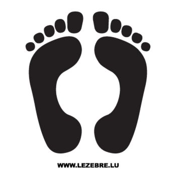 Human footprints Decal