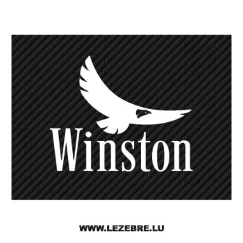Winston Eagle Logo Carbon Decal