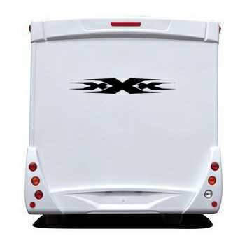 Triple X Camping Car Decal