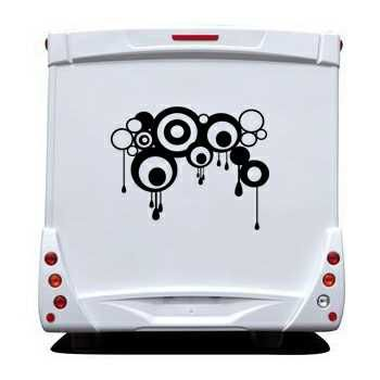 Design Circles Camping Car Decal
