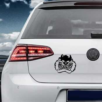 Sticker VW Golf Tête Taz