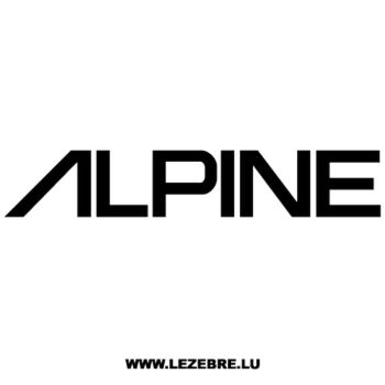 Alpine Logo Decal