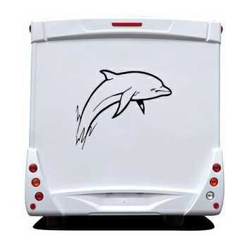 Blue Dolphin Camping Car Decal