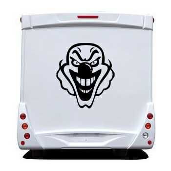 Sticker Camping Car Clown