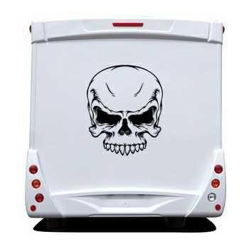 EMO Skull Camping Car Decal