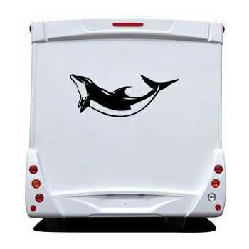 Dolphin Camping Car Decal
