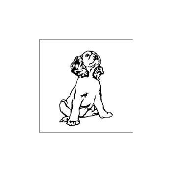 Dog sitting Decal