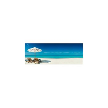 Sticker Wanddekoration Plage Parasol
