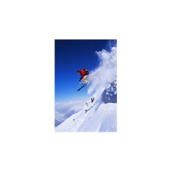 Sticker Déco Skieur saut en montagne