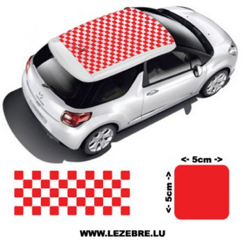 Custom Checkerboard car roof sticker