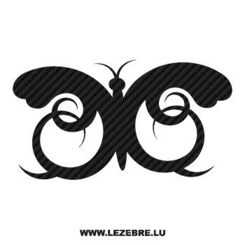 Sticker Carbone Papillon Ornement