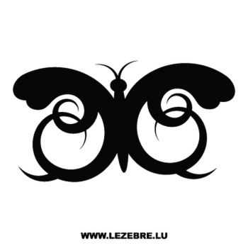 Butterfly Ornament Decal