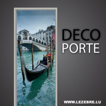 Venice gondola door decal