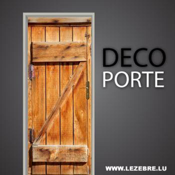 Sticker Déco Porte Vieux Bois